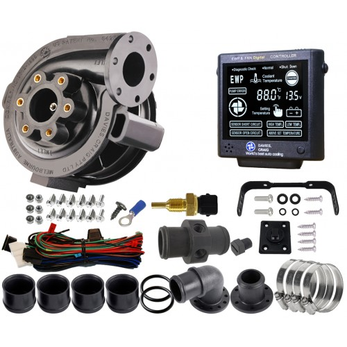EWP80 Combo - 12V 80LPM/21GPM Remote Electric Water Pump & Controller Combo (8907)