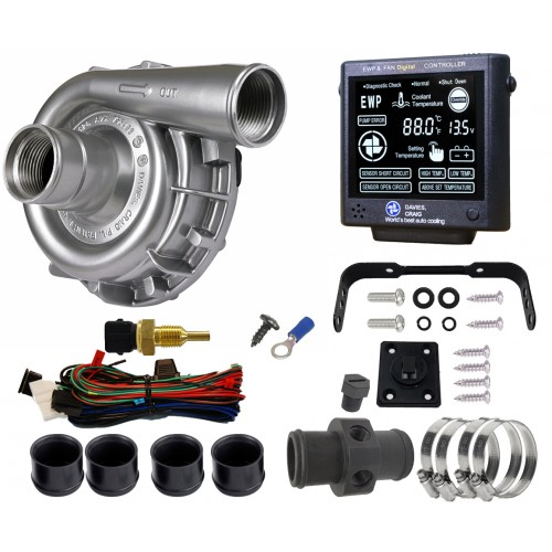 EWP115 Alloy Combo - 12V 115LPM/30GPM Remote Electric Water Pump & Controller (8950)