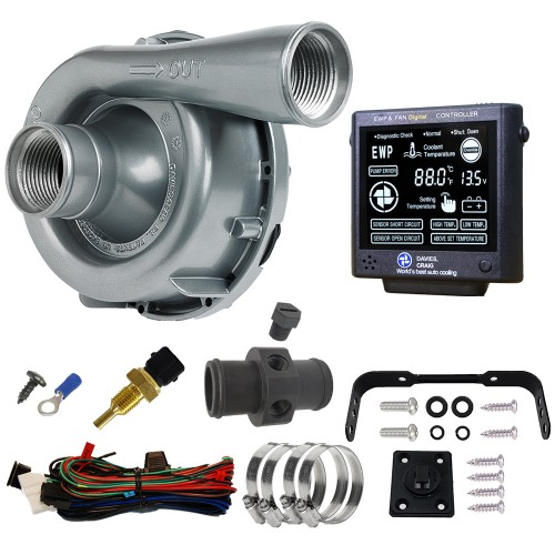 EWP150 Combo - 12V 150LPM/40GPM Remote Electric Water Pump & Controller (8970)