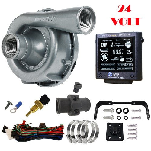 EWP150 Combo - 24V 150LPM/40GPM Remote Electric Water Pump & Controller (8971)
